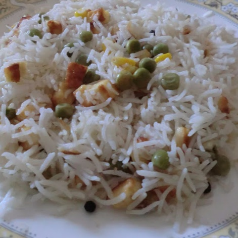 How to make Corn and Pea Pulao