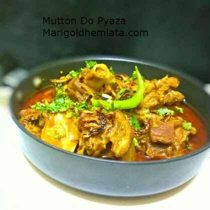 Photo of Mutton do pyaza by Hem Lata Srivastava at BetterButter