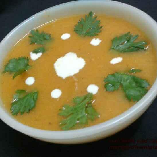 How to make मसूर दाल और कद्दू का सूप