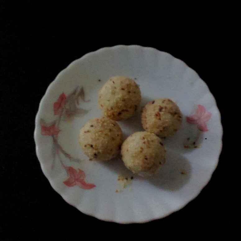 How to make Coconut til laddu