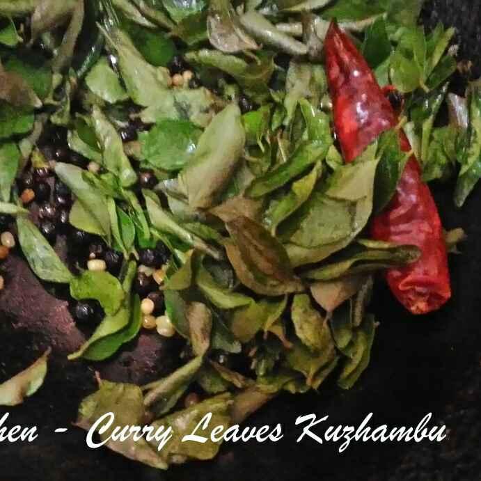 How to make Kariveppilai (Curry Leaves) Kuzhambu