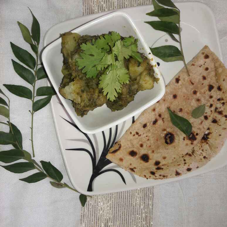 Photo of Hare-bhare aalu by Hema Thanvi at BetterButter