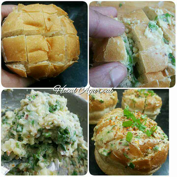 Photo of Cheesy garlic pull apart bread buns. by Hetal Agarwal at BetterButter