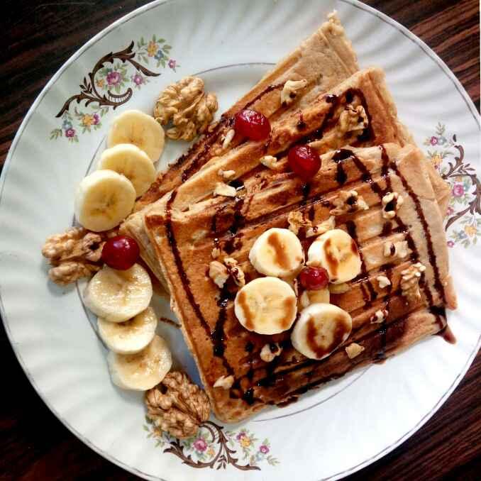 Photo of Banana oats waffel by Hetal Sevalia at BetterButter
