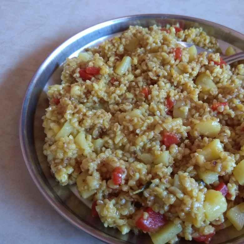 How to make Masala Broken Wheat