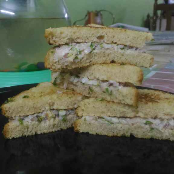 Photo of Onion curd sandwiches by Hima Harikrishnan at BetterButter
