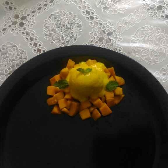 Photo of 3 ingredient mango lassi ice cream by Hima Harikrishnan at BetterButter