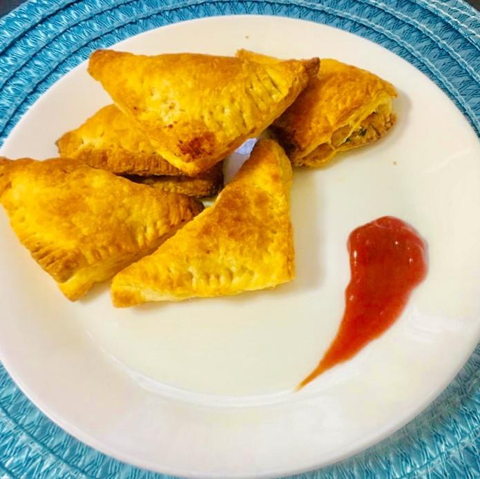 Photo of potato salsa samosa by Himabindu  at BetterButter