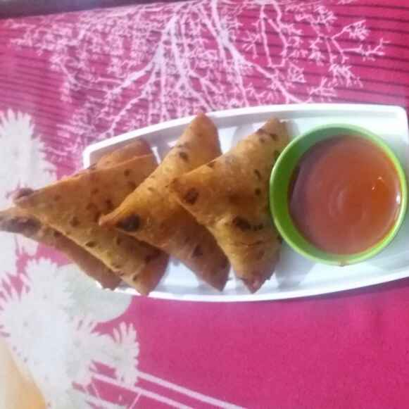 How to make roti samosa