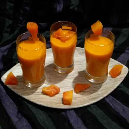 Photo of papaya milk shake by Hiral Pandya Shukla at BetterButter
