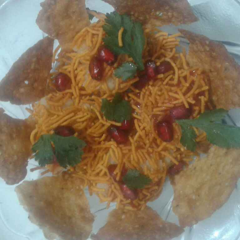 How to make Corn on wheat papdi chat