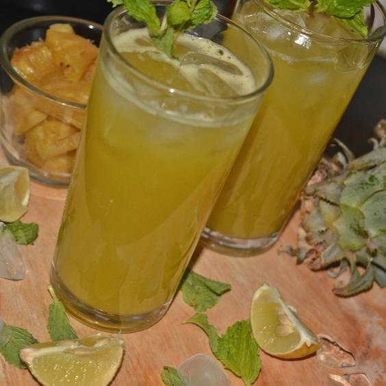 Photo of Pineapple Mint Agua Fresca by Jolly Makkar at BetterButter