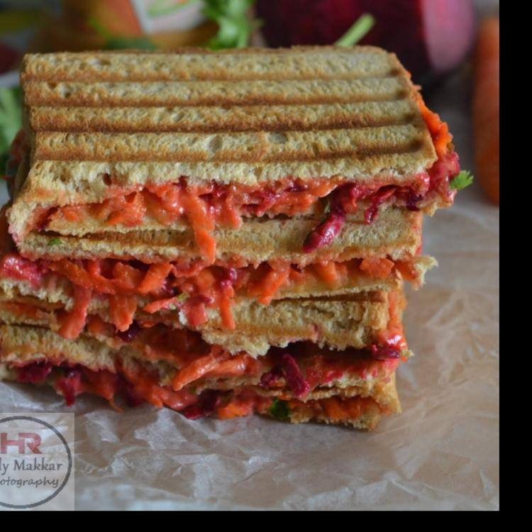 Photo of Beetroot Carrot Sandwich by Jolly Makkar at BetterButter