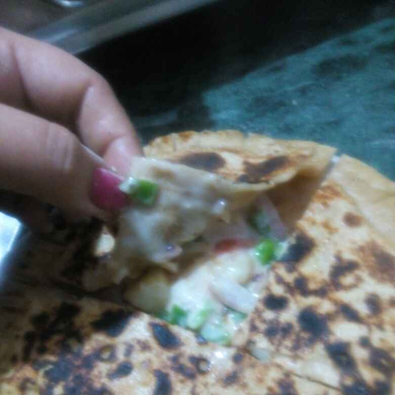 Photo of Pizza paratha by Honey Lalwani at BetterButter