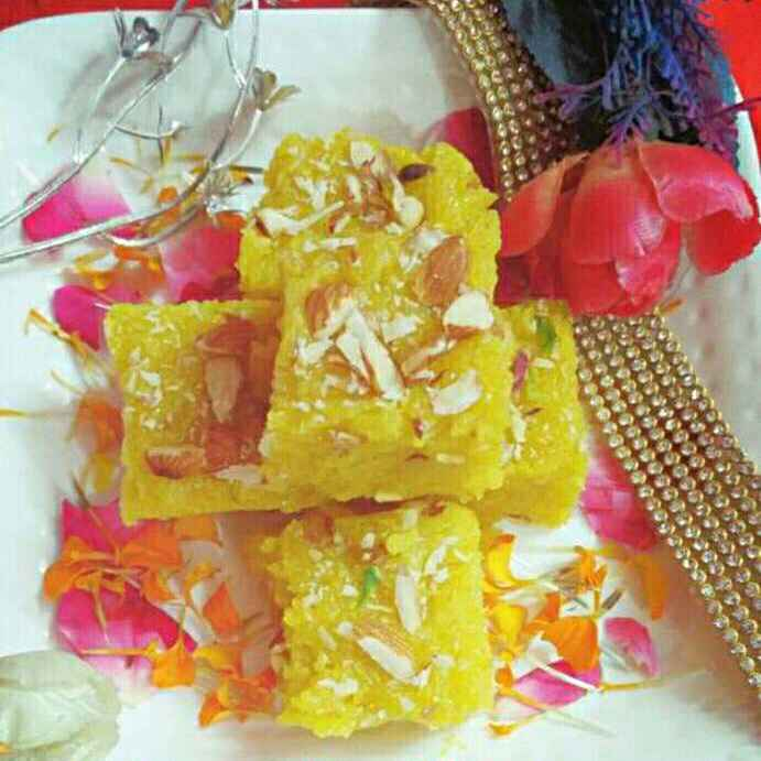 Photo of Sindhi singhar ji mithai (sev ki barfi) by Honey Lalwani at BetterButter
