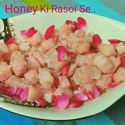 Photo of Rose flavoured chhena murki by Honey Lalwani at BetterButter