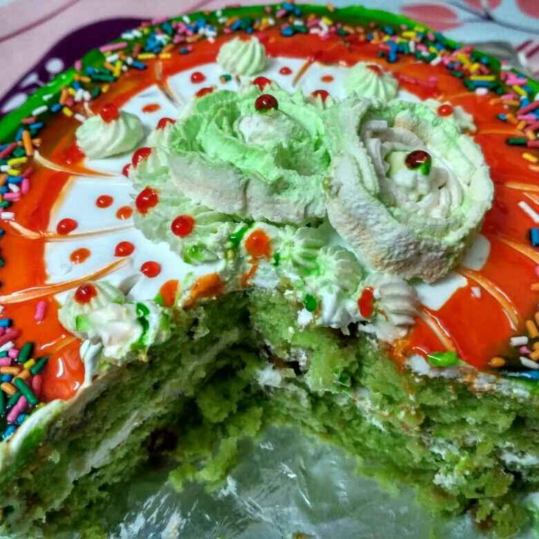 How to make EGGLESS Paan Cake