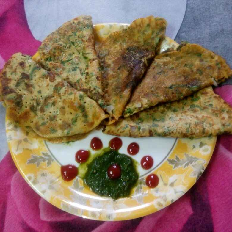 How to make Spinach Pancake / Palak Chilla