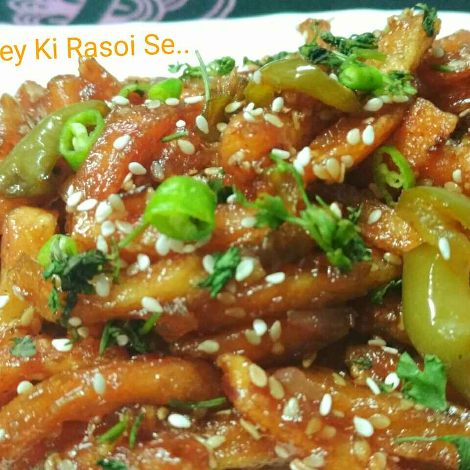 How to make Honey Chilli Potato