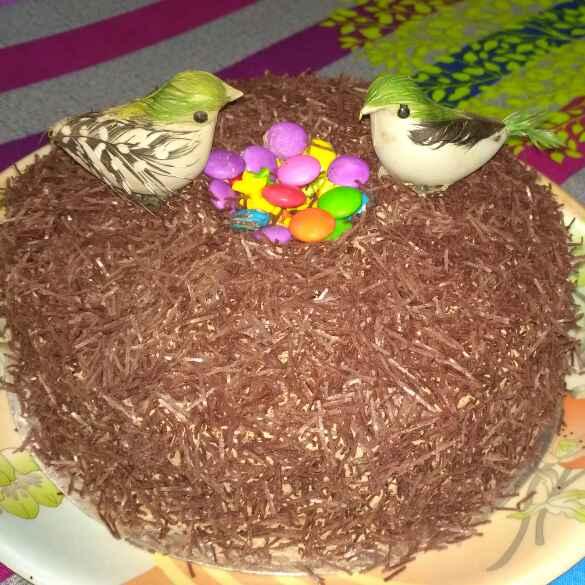 How to make बर्ड नेस्ट केक (पक्षियों का घोंसला)