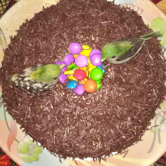 How to make Bird nest Cake