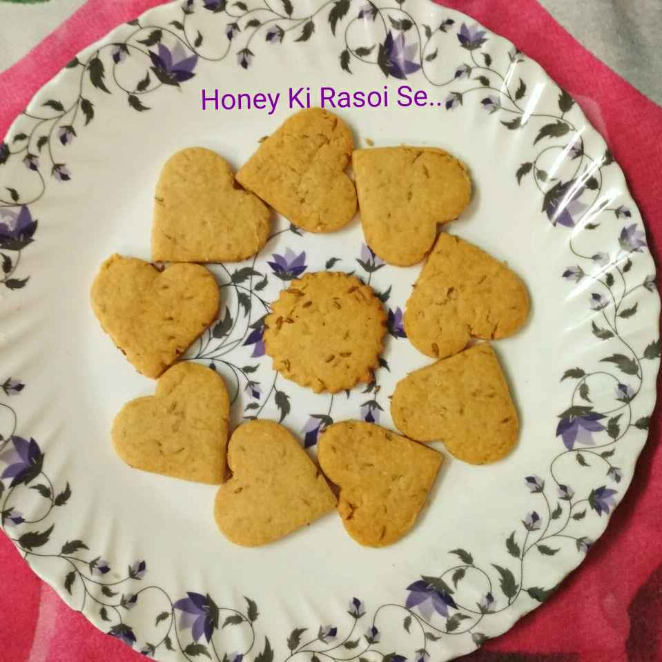 Photo of Wheat Flour Jeera Cookies by Honey Lalwani at BetterButter