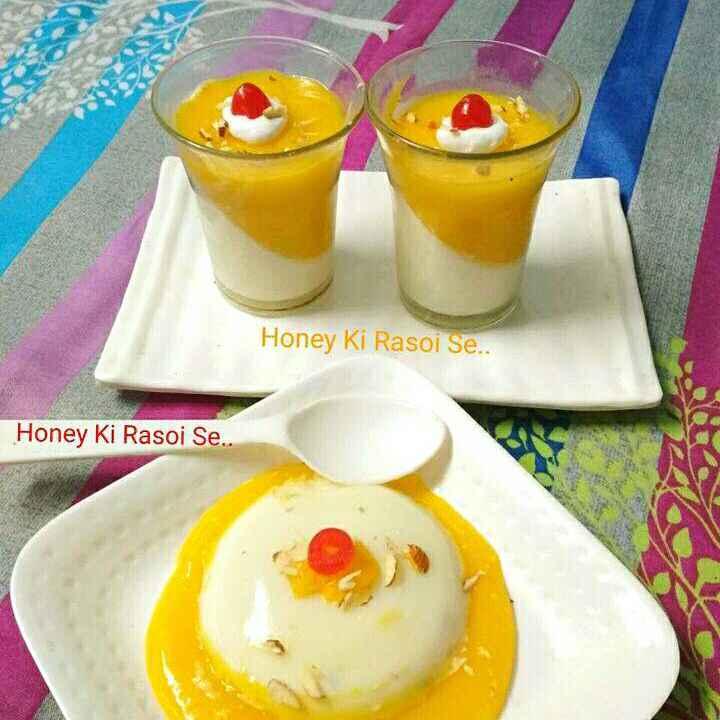 Photo of Mango vanilla pannacotta by Honey Lalwani at BetterButter