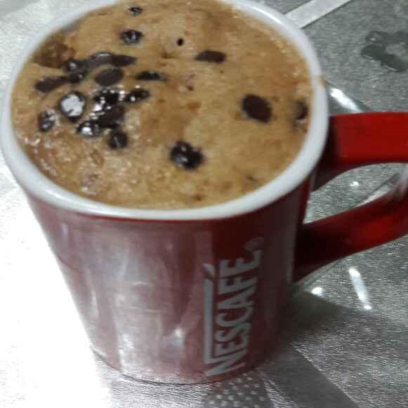 How to make Microwave choco chip mug cake