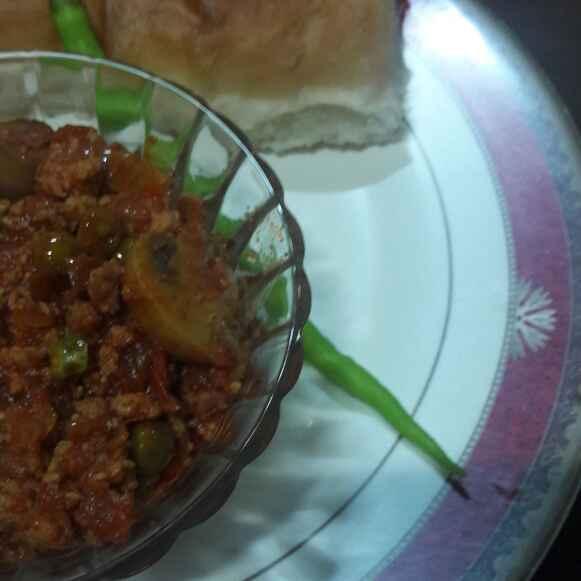 Photo of Mushroom peas keema by Huda Mulla at BetterButter