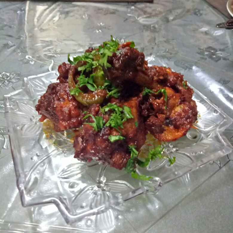 How to make Red chilli hot garlic lollipops