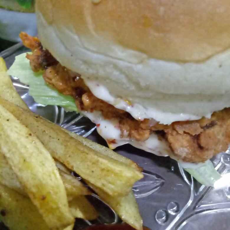How to make Crispy crunchy chicken burger