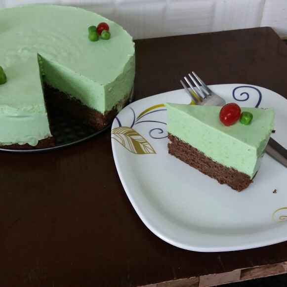 How to make Green peas chocolate mousse cake...