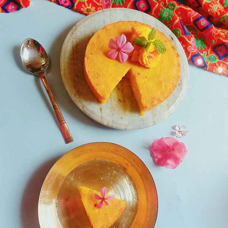 How to make Mango chhena poda(Roasted mango cheese cake)