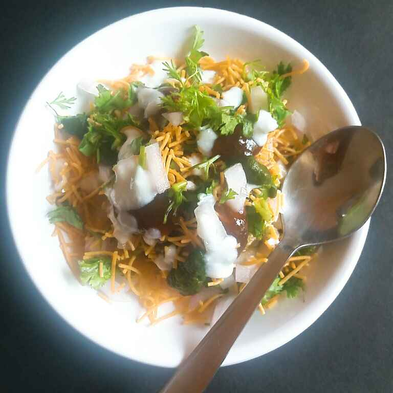 How to make Leftover rice tikki chaat.