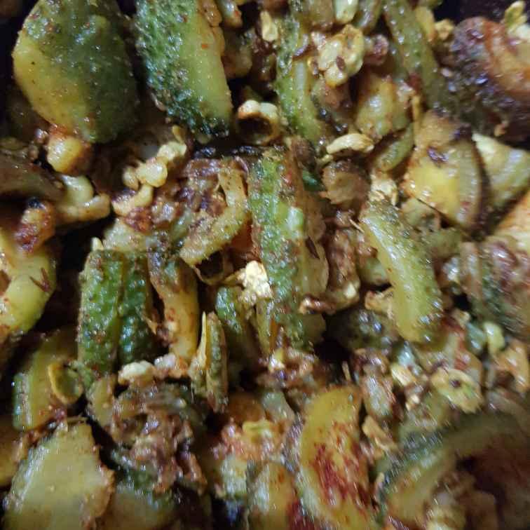 Photo of karela fry by Indira Bhaskar at BetterButter