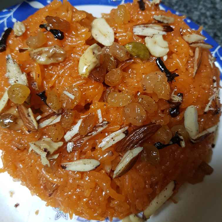 Photo of Zarda rice (kesar pulav) by Indira Bhaskar at BetterButter