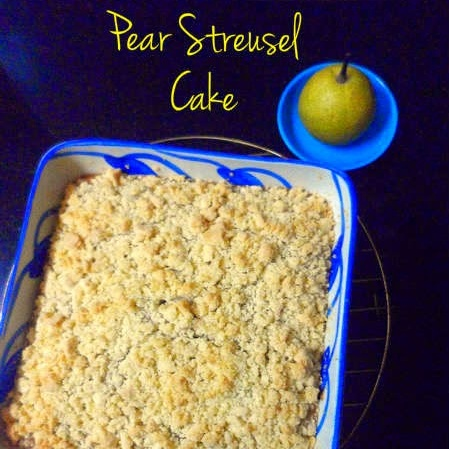 How to make Pear Streusel Cake