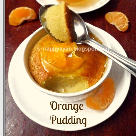 How to make Baked Orange Pudding with Orange Syrup