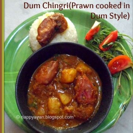 How to make Chingri macher Dum (Prawns cooked in dum style)