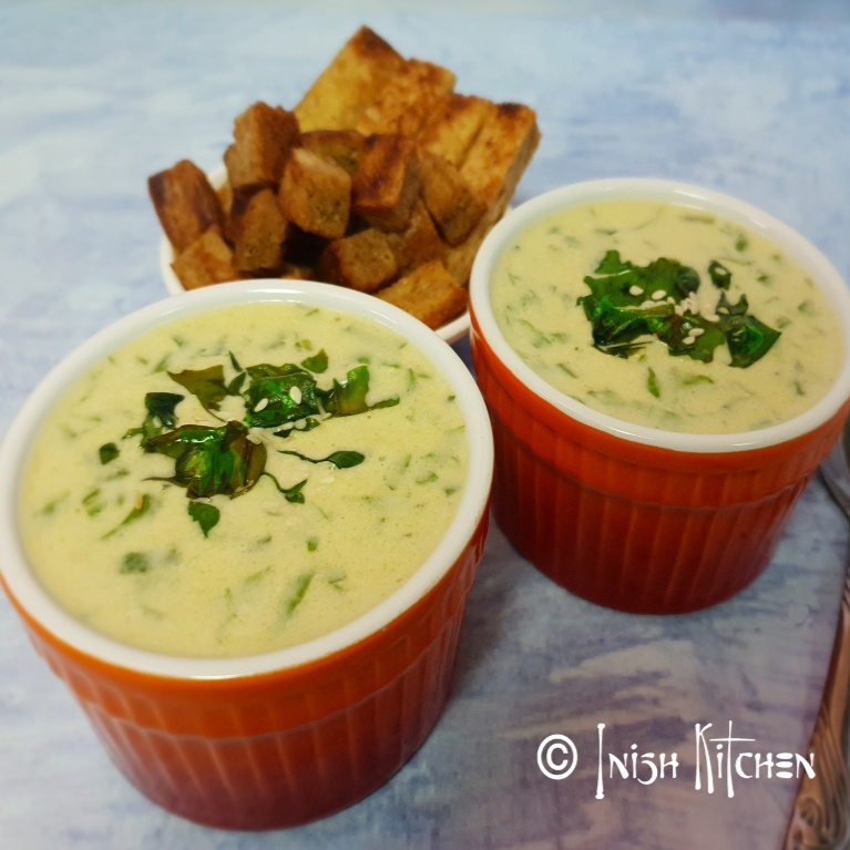 Photo of COCONUT CREAM & SPINACH SOUP by Inish Issac at BetterButter