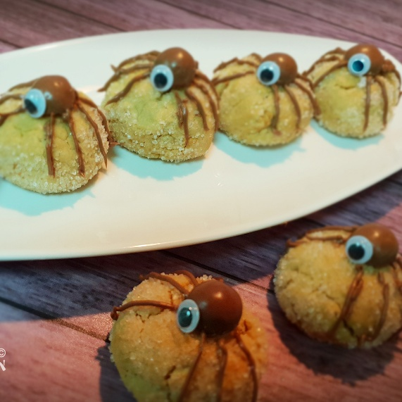 Photo of PEANUT BUTTER SPIDER COOKIES by Inish Issac at BetterButter