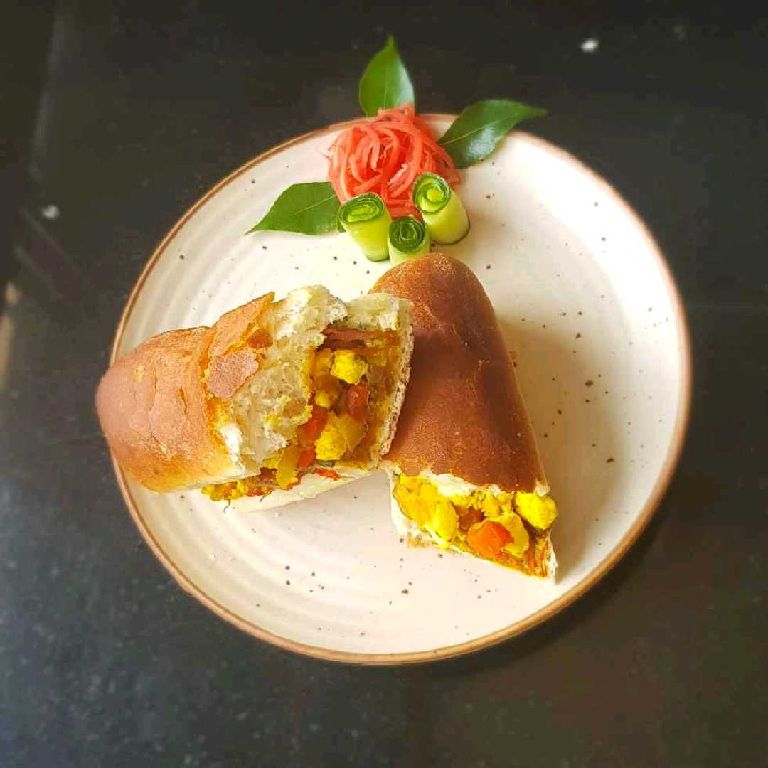 How to make Paneer Bhurji Hotdog