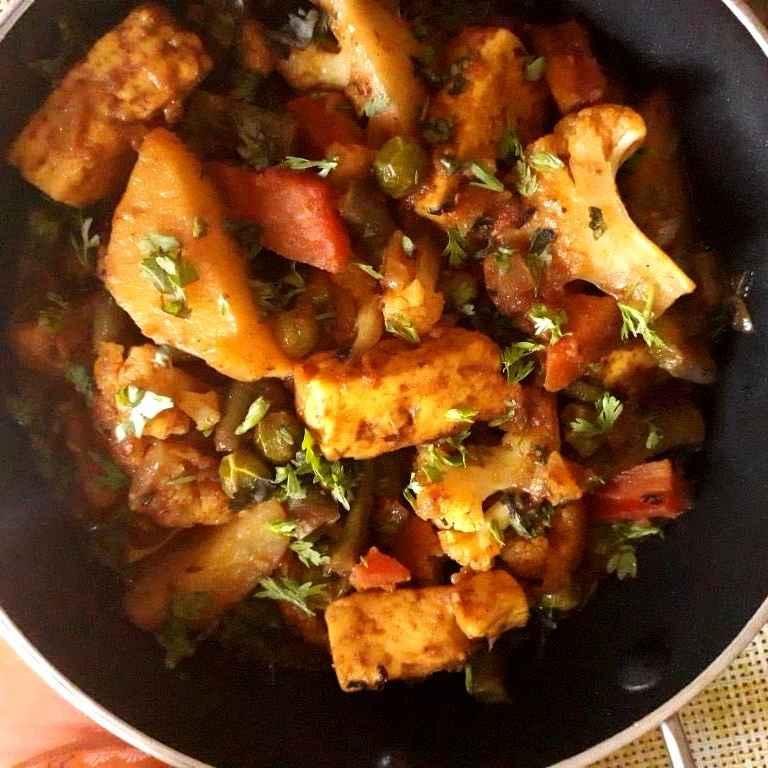 How to make Mix Veg Curry / Veg Kadai