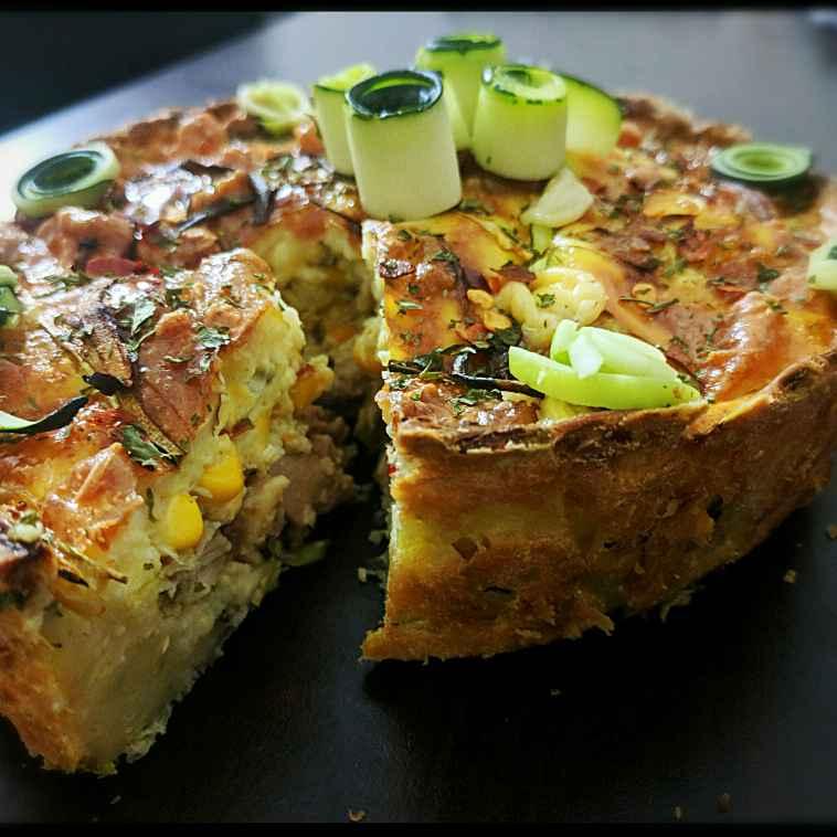 Photo of Zucchini crust chicken corn Quiche by Ipsita Choudhury at BetterButter