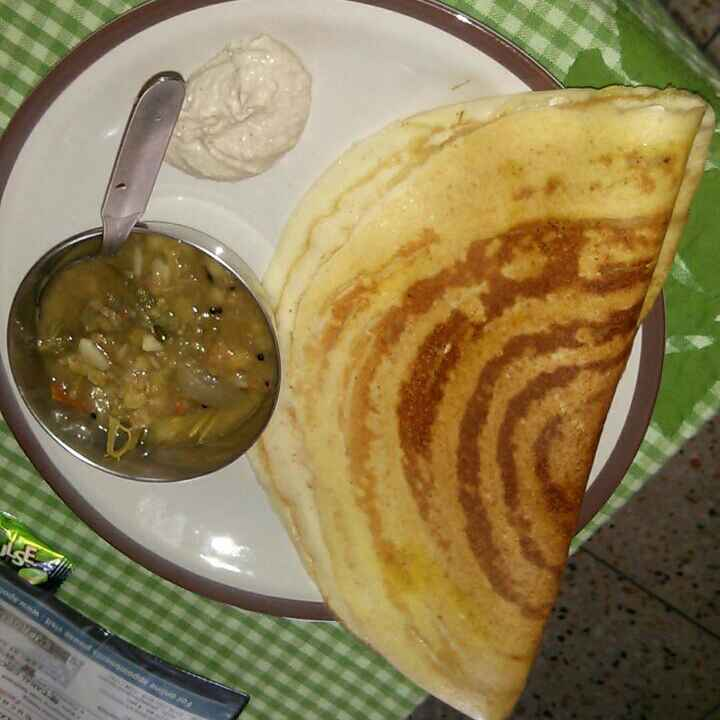 Photo of Yellow moong dal Paper dosa with coconut chutney by Isha Tamanna at BetterButter