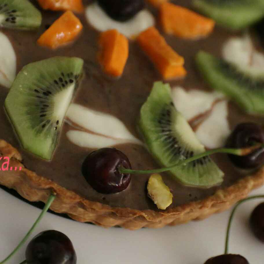 How to make Fruit Tart with Nutella and Cheese Filling