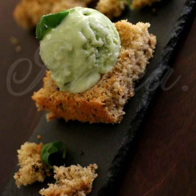 How to make Malaccan spice sponge with fresh basil and coconut cream ice cream