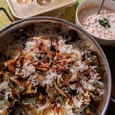 How to make Minty Mushroom and Soya Nuggets Biryani