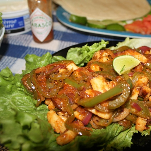 How to make Paneer Fajitas with Lettuce