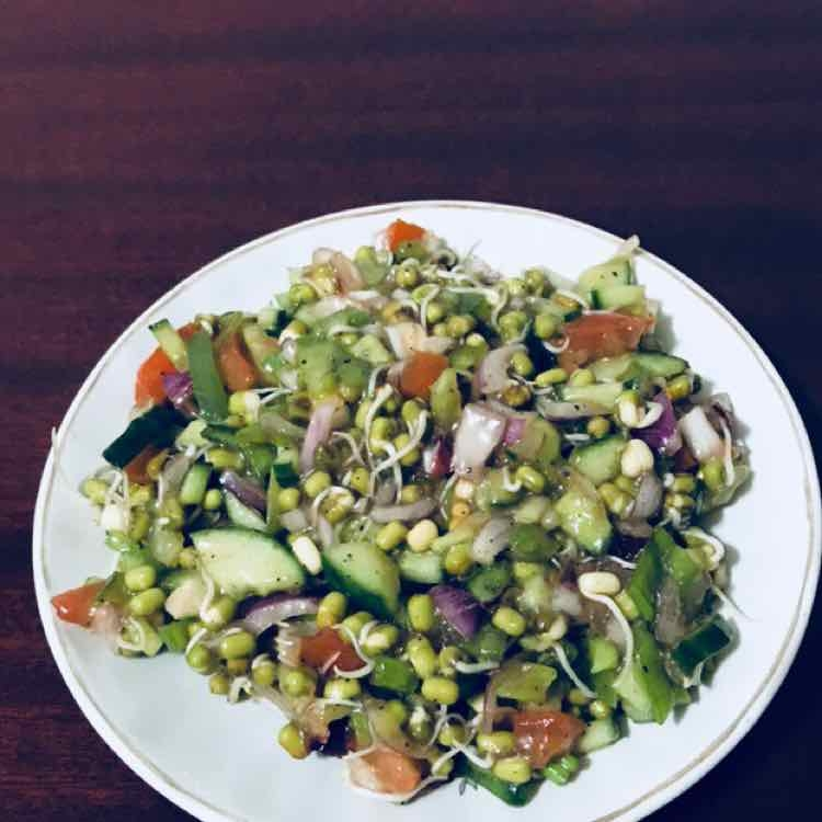 How to make Sprouted Green Gram Salad